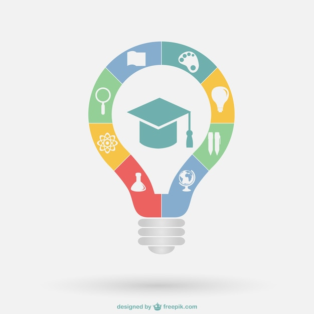 Education infographic template Free Vector