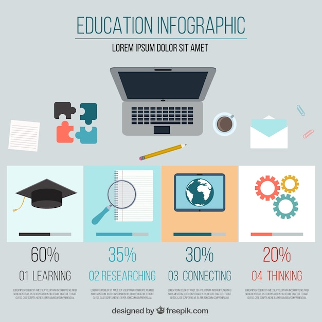 Education infographic template Vector | Free Download