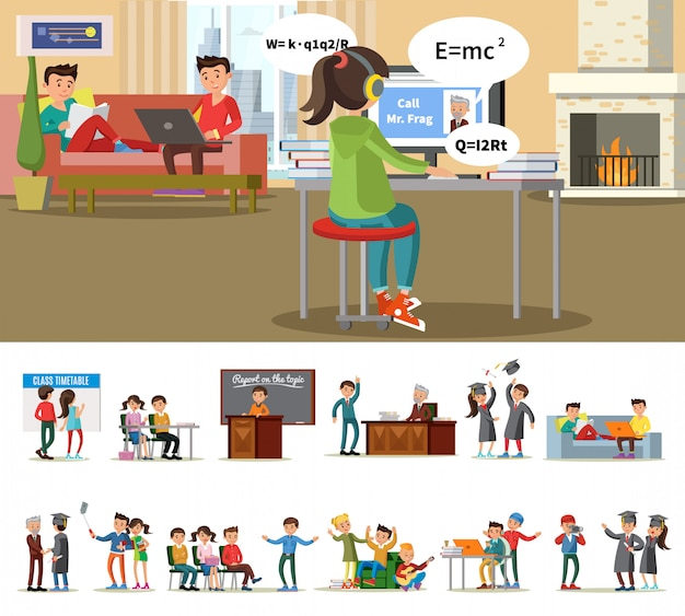 Education and learning concept Free Vector