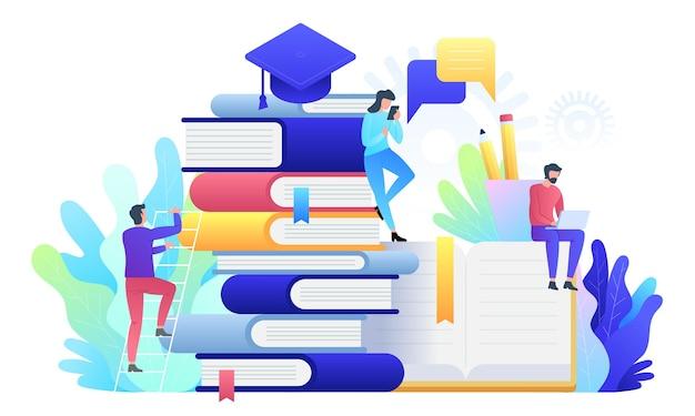 教育オンラインコンセプト技術イラスト Premiumベクター