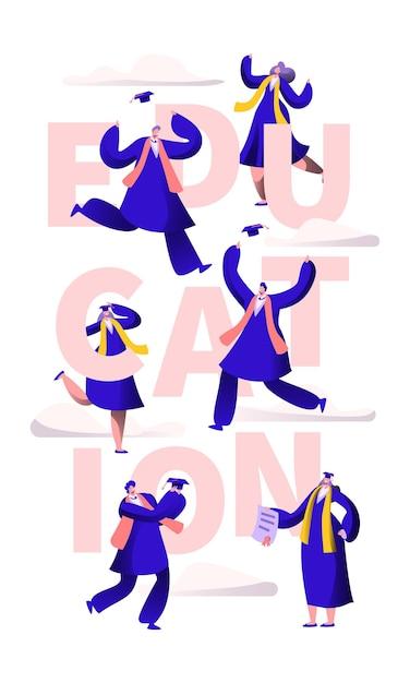 Баннер типографии мотивации школы образования. Premium векторы