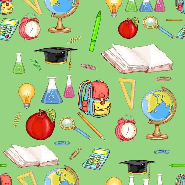 Education seamless pattern Premium Vector