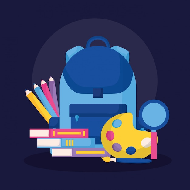 Education supplies in flat style Free Vector