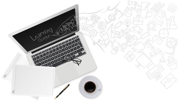 Education technology concept Premium Vector