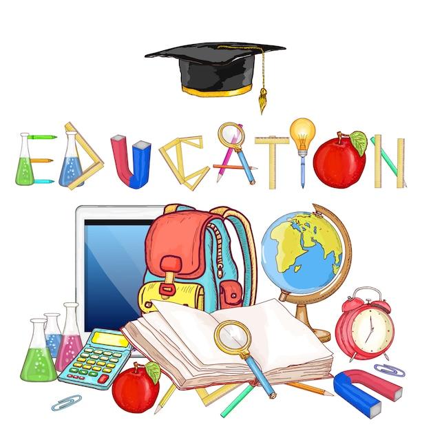 Education tools Premium Vector