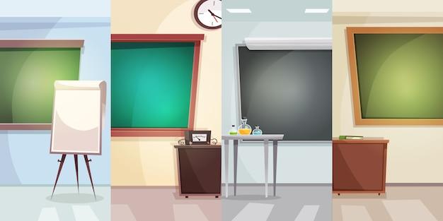 Education vertical background Premium Vector