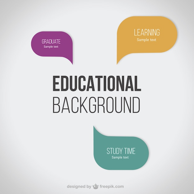 Educational background | Free Vector