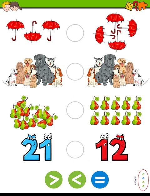Educational mathematical puzzle Premium Vector