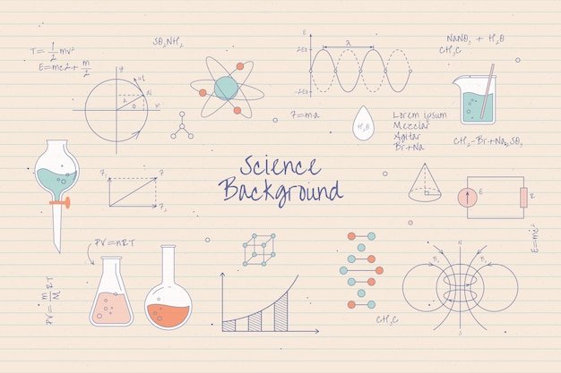 Educational science concept Free Vector