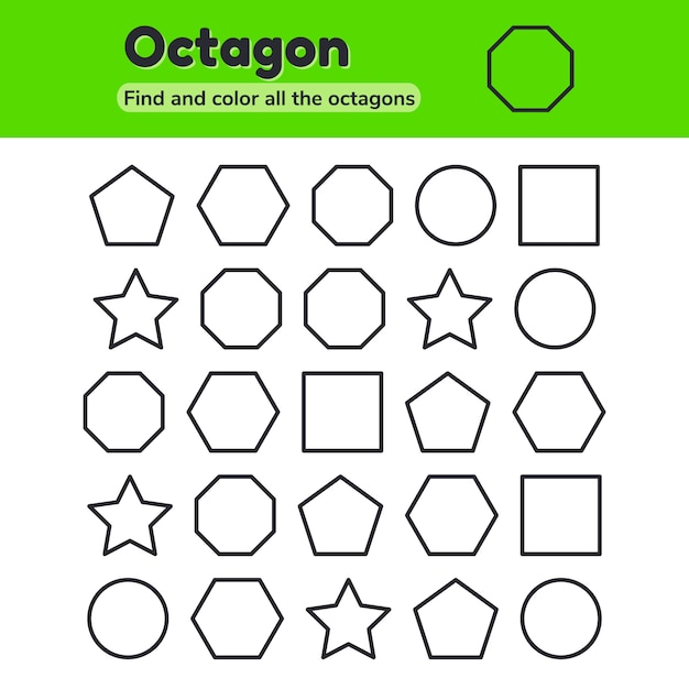 Educational worksheet for kids Premium Vector