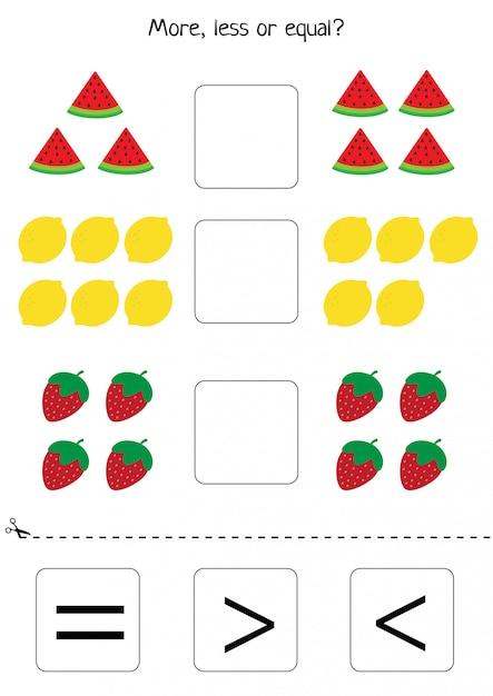 Educational worksheet for preschool kids. Premium Vector