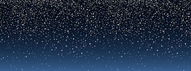 The effect of falling snow. seamless pattern. Premium Vector
