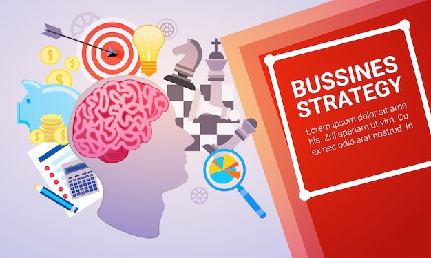 Effective planning strategy business web banner Premium Vector