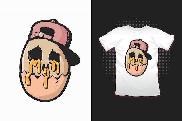 Egg print for t-shirt design Premium Vector