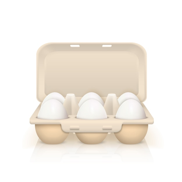 Eggs in box illustration Free Vector