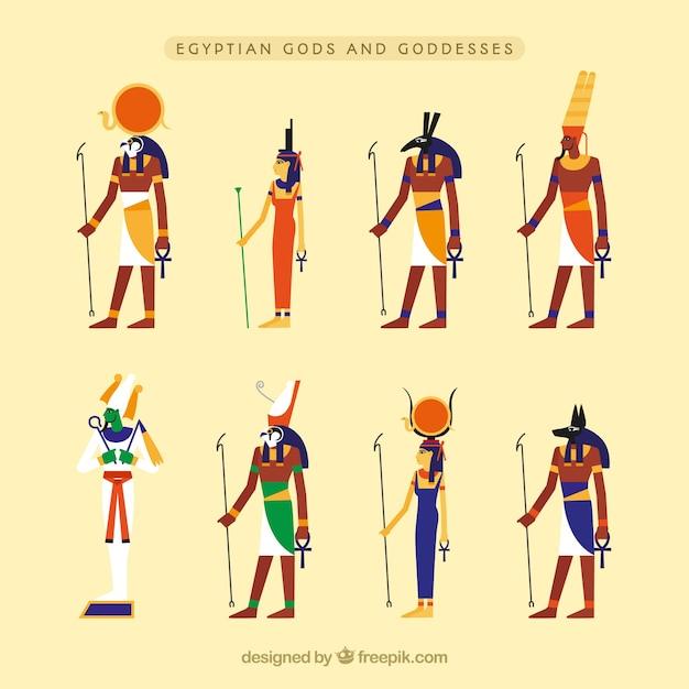 Egypt Gods And Symbols Vector Free Download