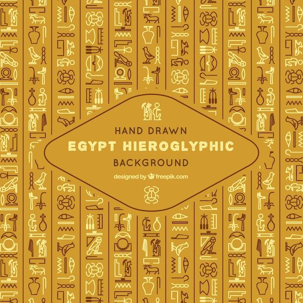 Egypt hieroglyphic background Free Vector