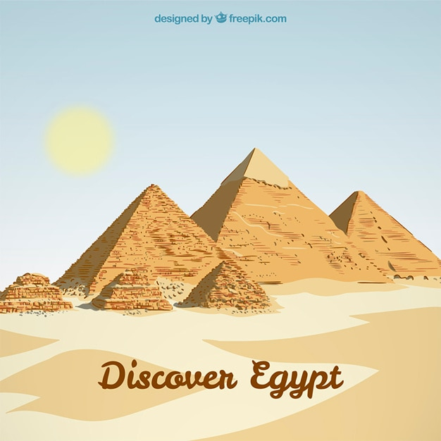 Egypt landscape background Free Vector