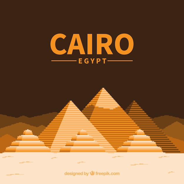 Egypt piramids background Free Vector