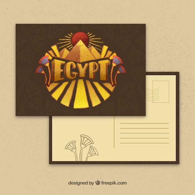 Egypt postcard template Free Vector
