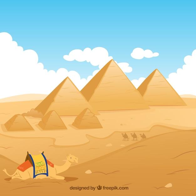 Premium Vector Egypt Pyramids Illustration