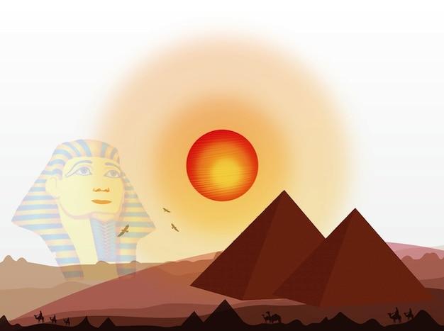 Egyptian desert under the sun
