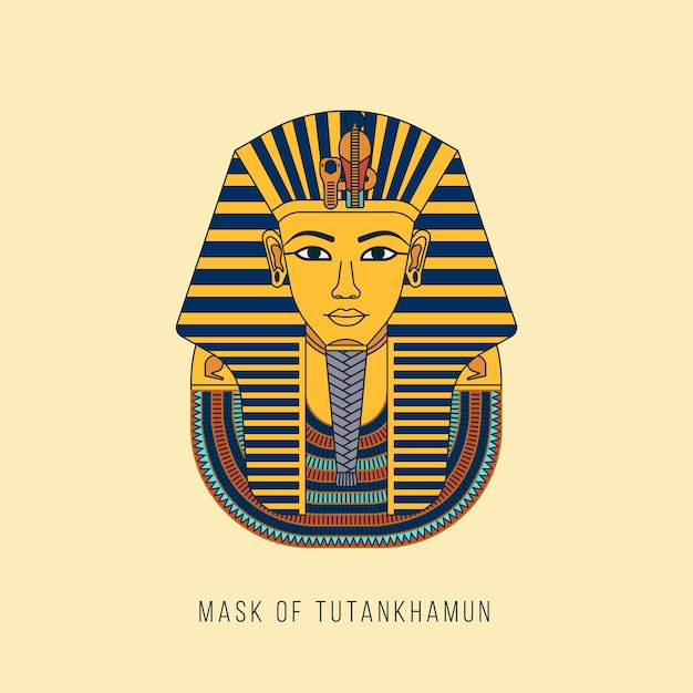 Egyptian golden pharaohs mask Premium Vector