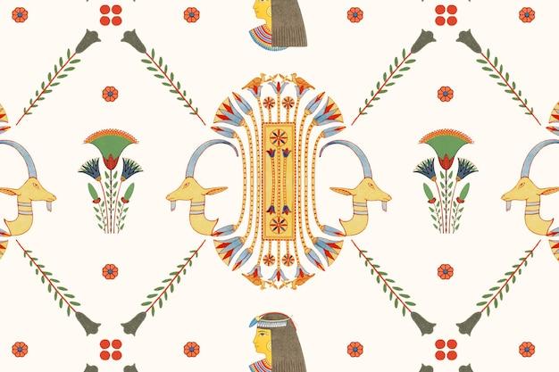 エジプトの装飾用シームレスパターン 無料ベクター