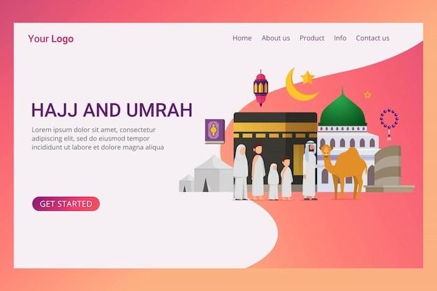ランディングページeid adha mubarakデザインコンセプト Premiumベクター