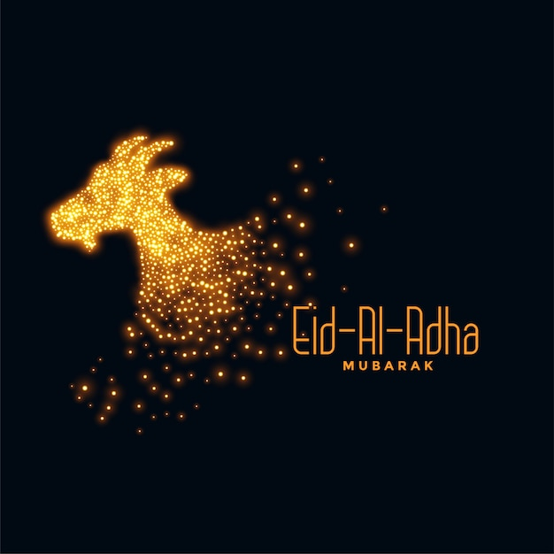 Eid al adha background with sparkling goat Free Vector