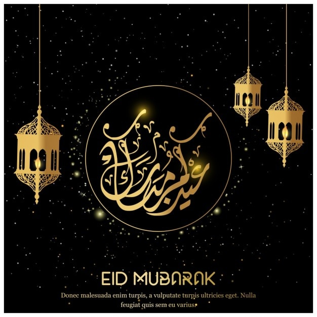 Eid mubarak black background vector free download eid mubarak black background free vector m4hsunfo