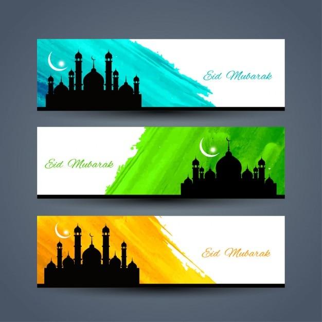 download vector eid mubarak colorful banners vectorpicker eid mubarak colorful banners