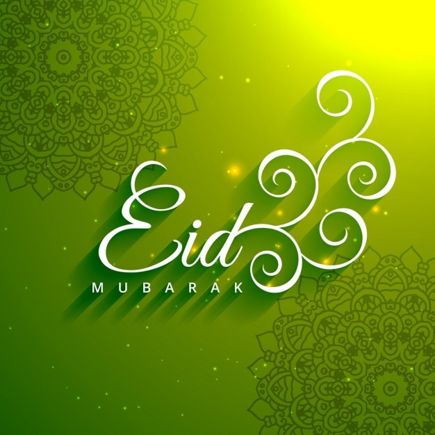 Eid mubarak creative text in green background vector free download eid mubarak creative text in green background free vector m4hsunfo