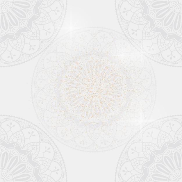 Eid mubarak lotus background vector Free Vector