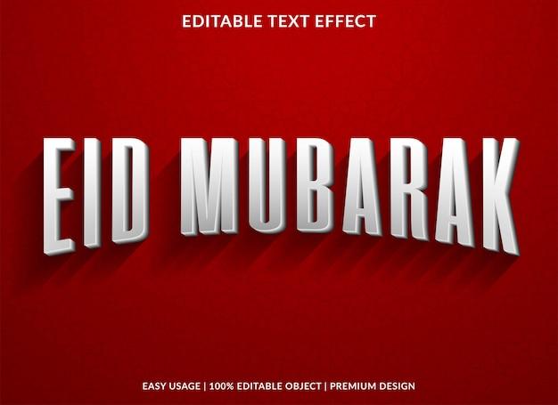 Eid mubarak with vintage text effect Premium Vector