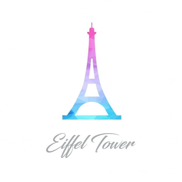 Torre eiffel poligono Vettore gratuito