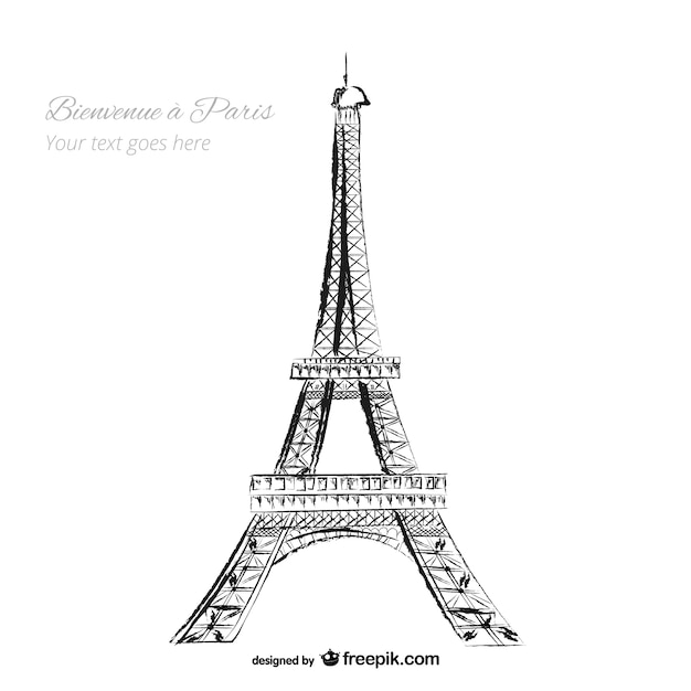 Eiffel Tower Free Vector