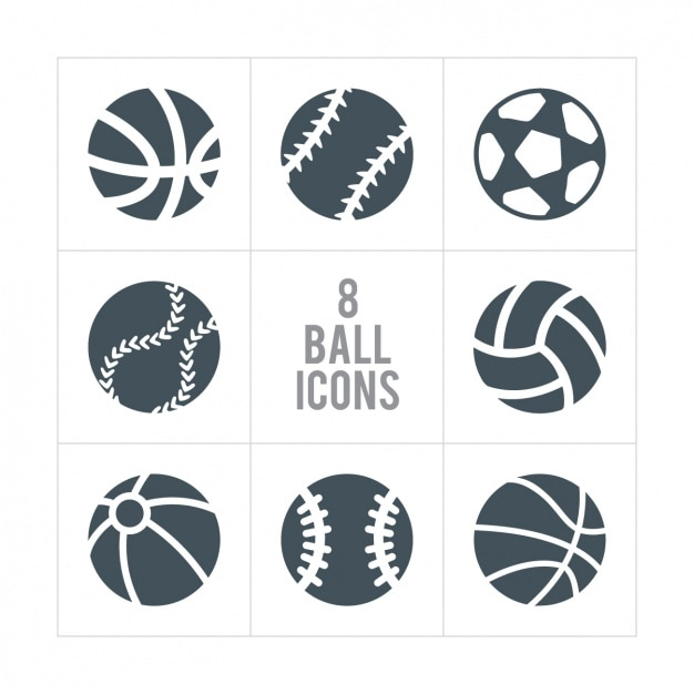 Eight ball icons Free Vector
