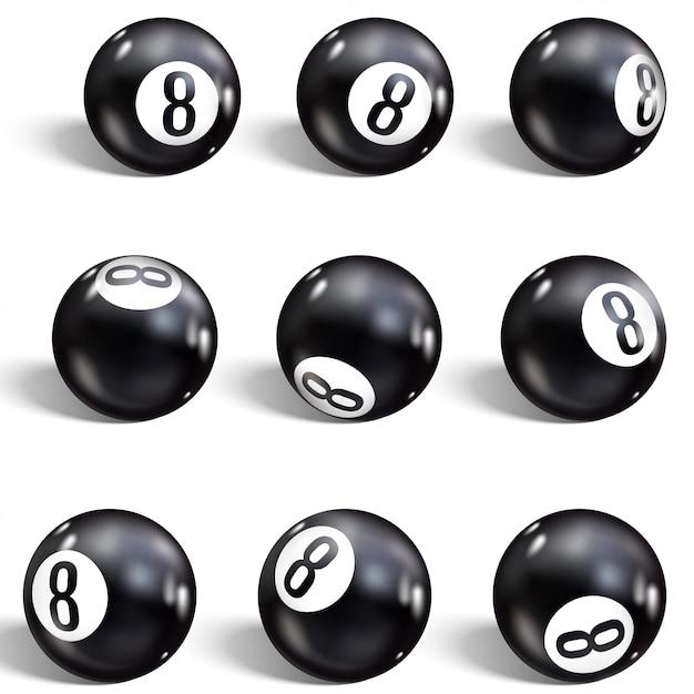 Eight ball Premium Vector