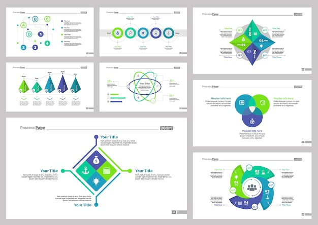 eight consulting slide templates set vector free download