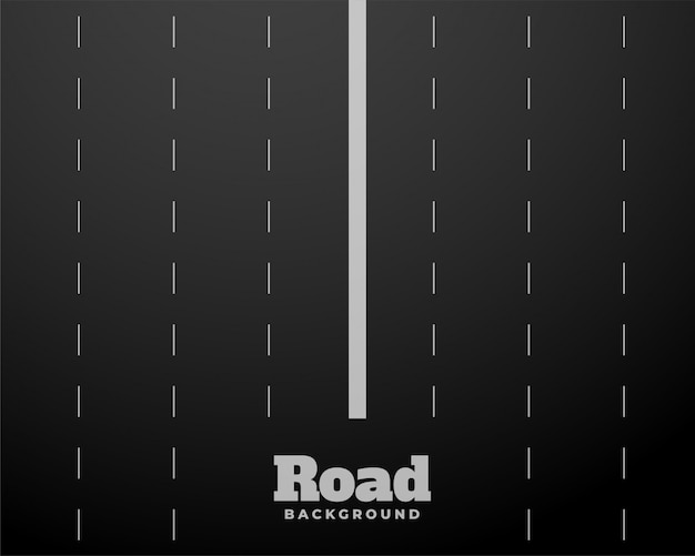 Eight lane black road highway background Free Vector