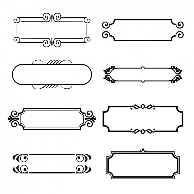 Eight ornamental frames Free Vector
