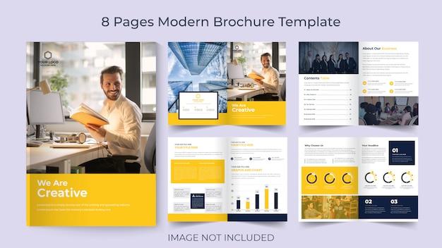 Шаблон корпоративной брошюры «восемь страниц» Premium векторы