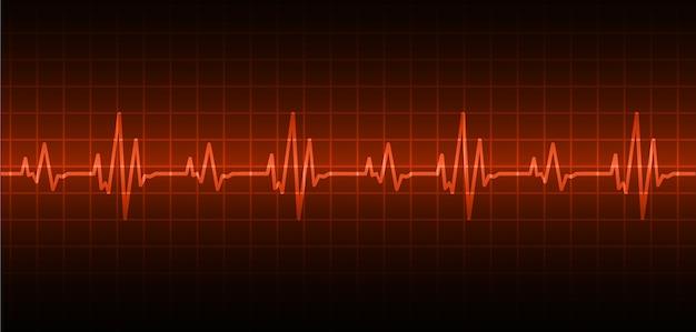Ekg сердечная волна Premium векторы