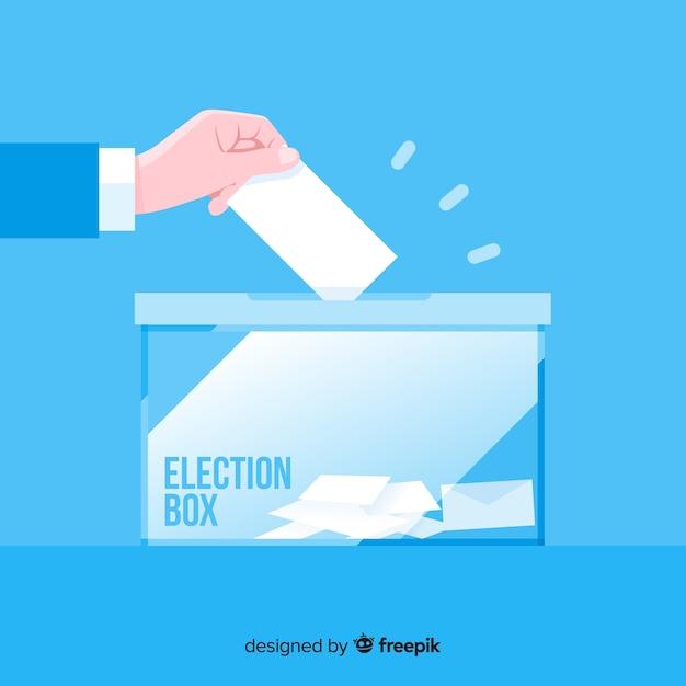 Election box concept Free Vector