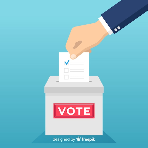 Election concept Free Vector