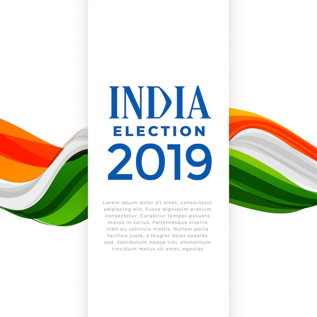 Election of india concept poster Free Vector