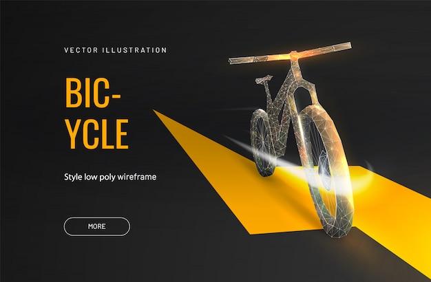 Электрический велосипед в полигональном стиле Premium векторы