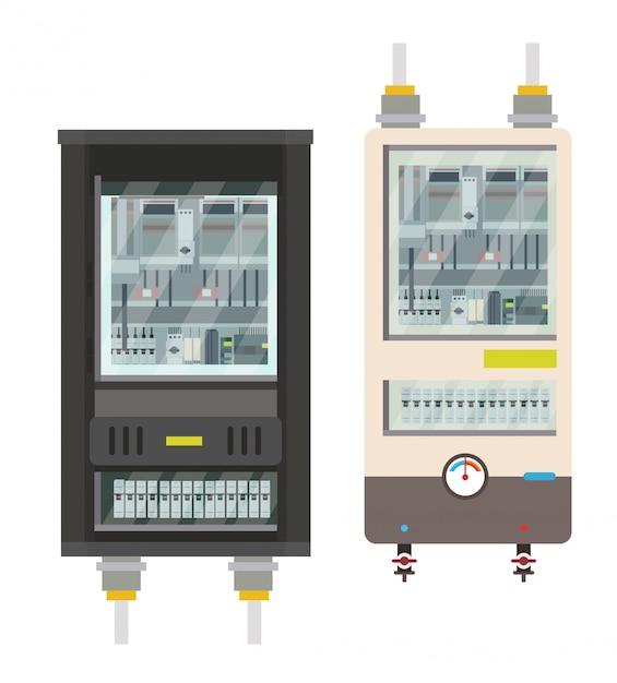 Electric box Premium Vector