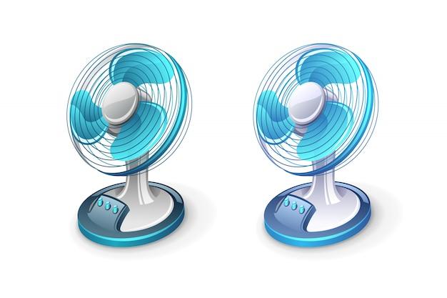 扇風機アイコンイラスト Premiumベクター